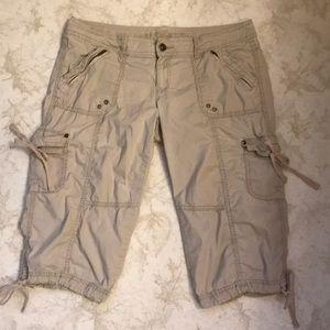 Arizona Jean Co. khaki cargo Capri pants, …